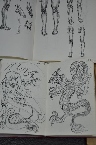 九龙接棺纹身手稿分享展示